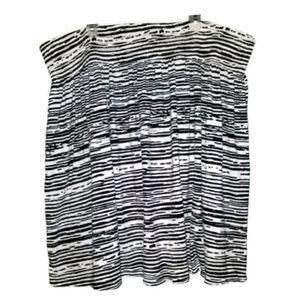 NWOT Lane Bryant Black White Zebra Striped Skirt